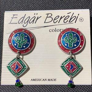 EDGAR BEREBI RARE CACTUS EARRINGS BRAND NEW